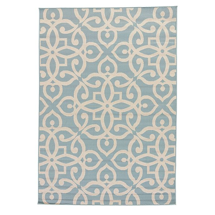 Alternate image 1 for Jaipur Scrolled Indoor/Outdoor Rug