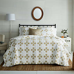 Bee & Willow™ Quilted Diamonds 3-Piece King Quilt Set in Tan