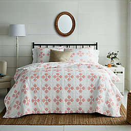 Bee & Willow™ Home Home Quilted Diamonds 3-Piece Full/Queen Quilt Set in Pink