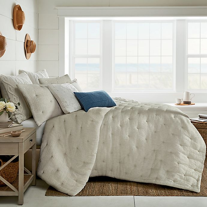 Alternate image 1 for Bee & Willow™ Home Tufted Gauze 3-Piece Full/Queen Duvet Cover Set in Natural