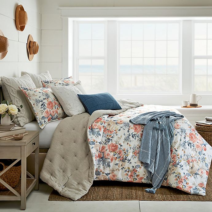 Alternate image 1 for Bee & Willow™ Vintage Rose 3-Piece Full/Queen Duvet Cover Set