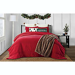 Bee & Willow™ Home 3-Piece Pom Pom Velvet Quilt Set in Red