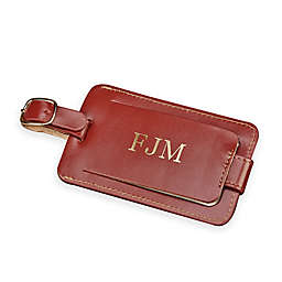 4-Inch Leather Luggage Tag with Snap