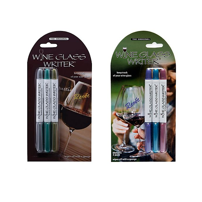 Alternate image 1 for Wine Glass Writer 3-Pack Washable Markers