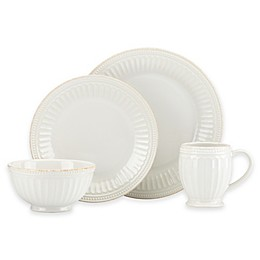 Lenox® French Perle Groove Dinnerware Collection in White