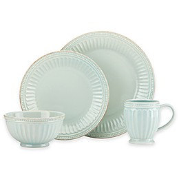 Lenox® French Perle Groove Dinnerware Collection in Ice Blue