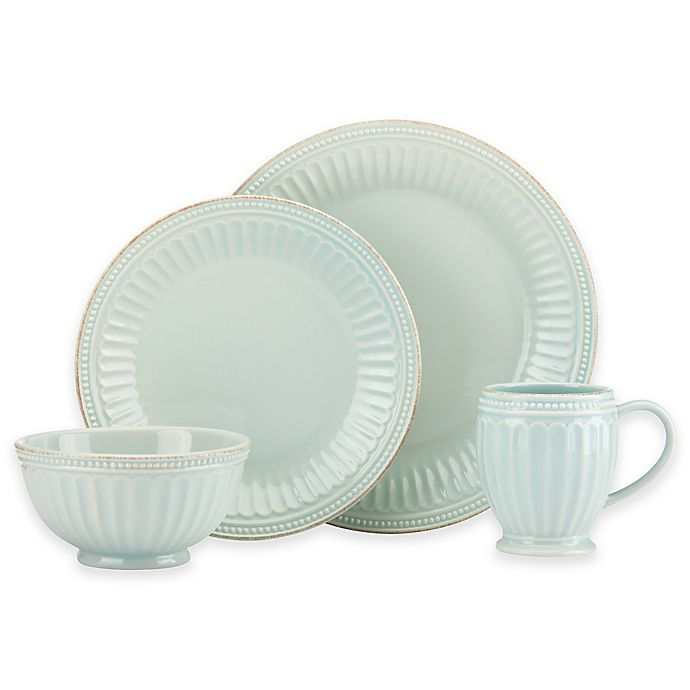 Alternate image 1 for Lenox® French Perle Groove 4-Piece Place Setting in Ice Blue