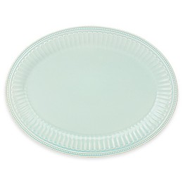 Lenox® French Perle Groove 16-Inch Oval Platter in Ice Blue