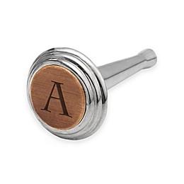 Nambe Alto Monogram Letter Bottle Stopper