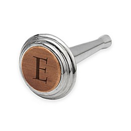 Nambe Alto Monogram Letter Bottle Stopper