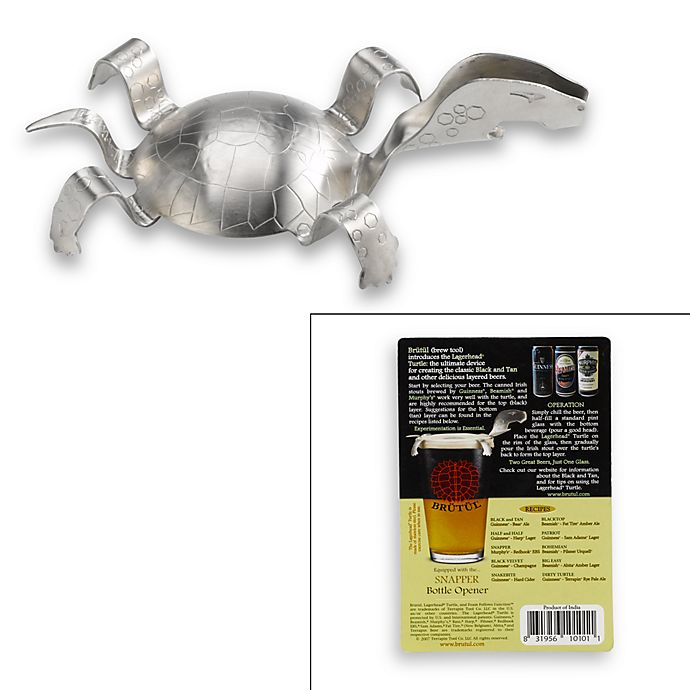 Alternate image 1 for Lagerhead® Black and Tan Turtle with Snapper Bottle Opener