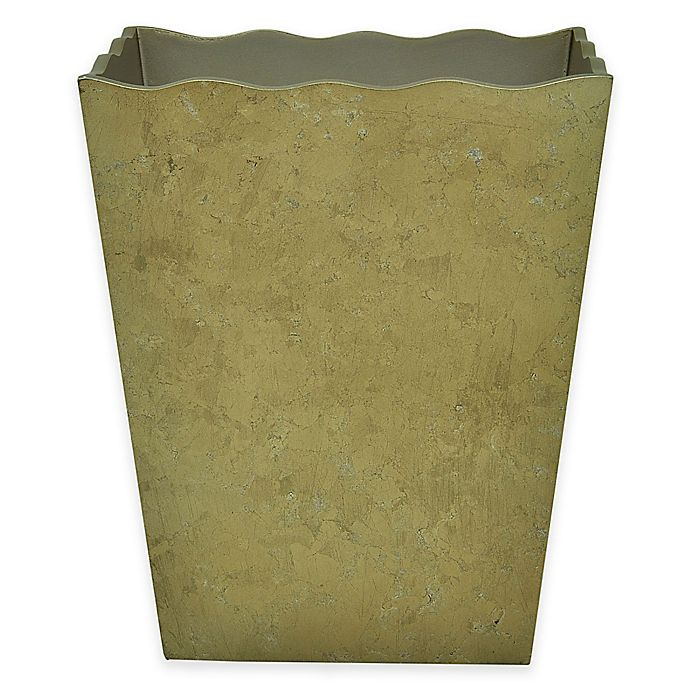 Alternate image 1 for Jessica Simpson Hayden Wastebasket in Gold