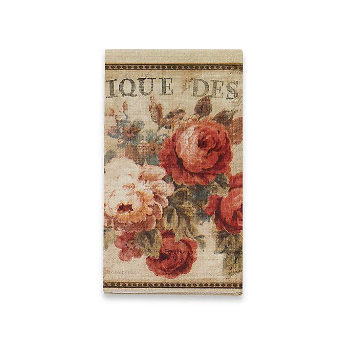 Alternate image 1 for Avanti Parisian Flower Guest Paper Napkins (Set of 16)