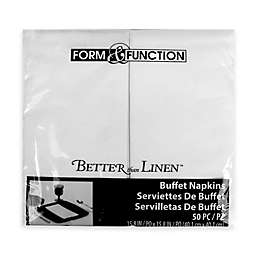 Better Than Linen 50-Count Paper Guest Napkins in Solid White