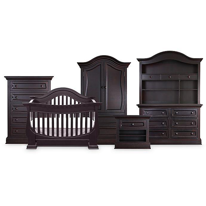 Baby Leseed Davenport Nursery Furniture Collection In Espresso