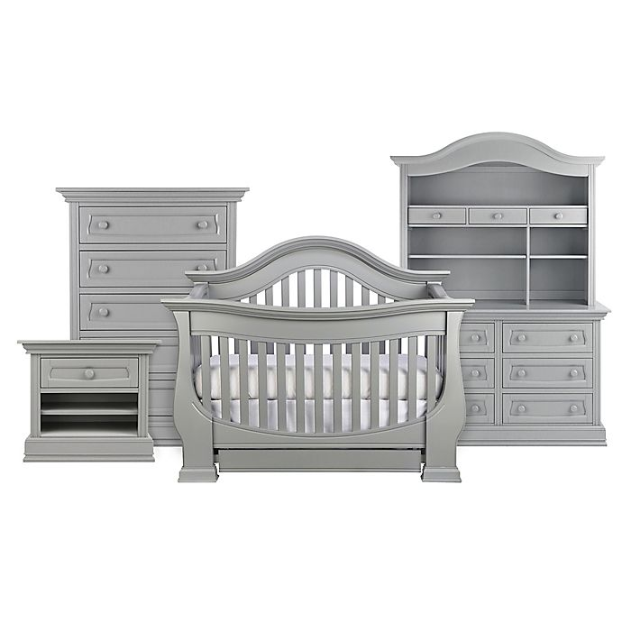 Alternate image 1 for Baby Appleseed® Davenport 4-in-1 Convertible Crib in Moon Grey