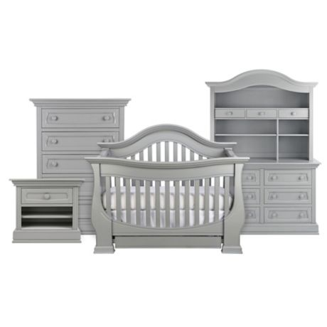 Baby Appleseed Davenport 4 In 1 Convertible Crib In Moon Grey Bed