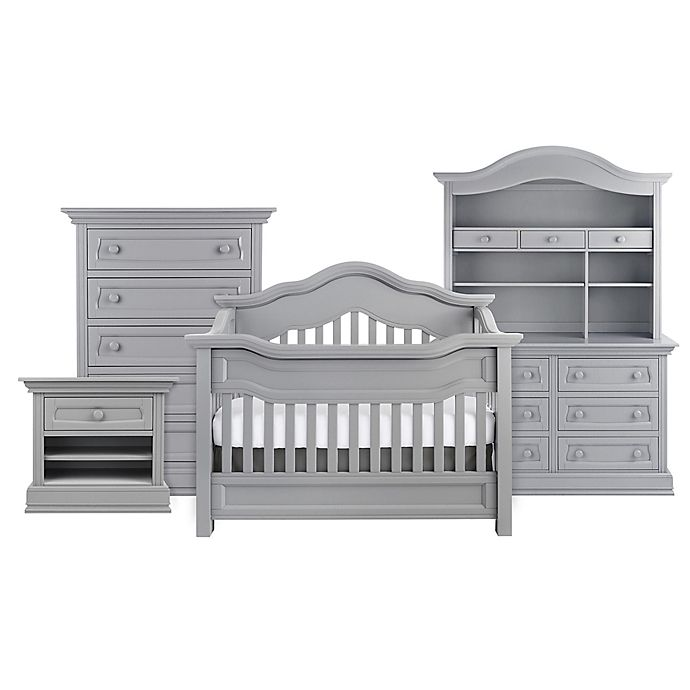 Alternate image 1 for Baby Appleseed® Millbury 4-in-1 Convertible Crib in Moon Grey
