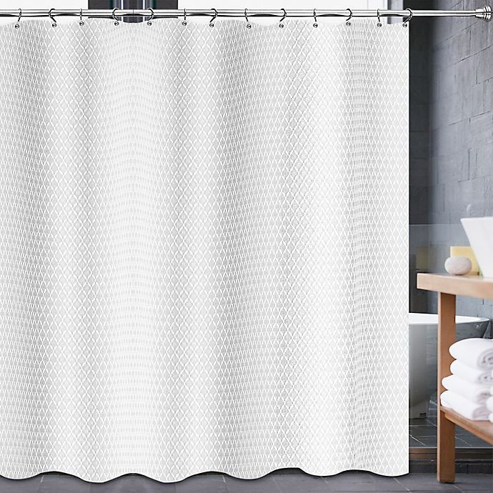 Alternate image 1 for Avalon 70-Inch x 84-Inch Shower Curtain in White