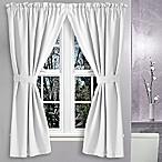Avalon 36-Inch x 45-Inch Bath Window Curtain Pair in White