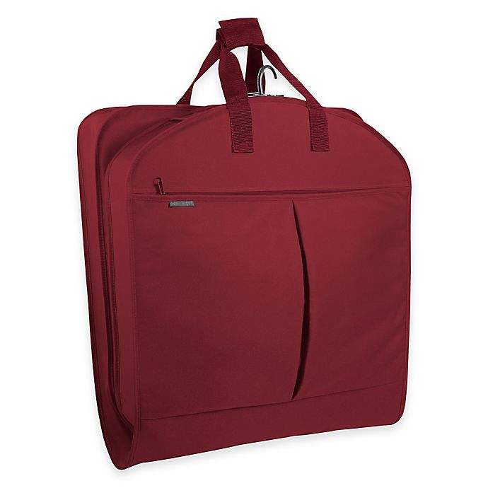 Alternate image 1 for WallyBags® 52-Inch Dress Length Garment Bag with Pockets in Red