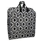 WallyBags® 52-Inch Dress Length Fashion Garment Bag with Pockets in Black/Grey