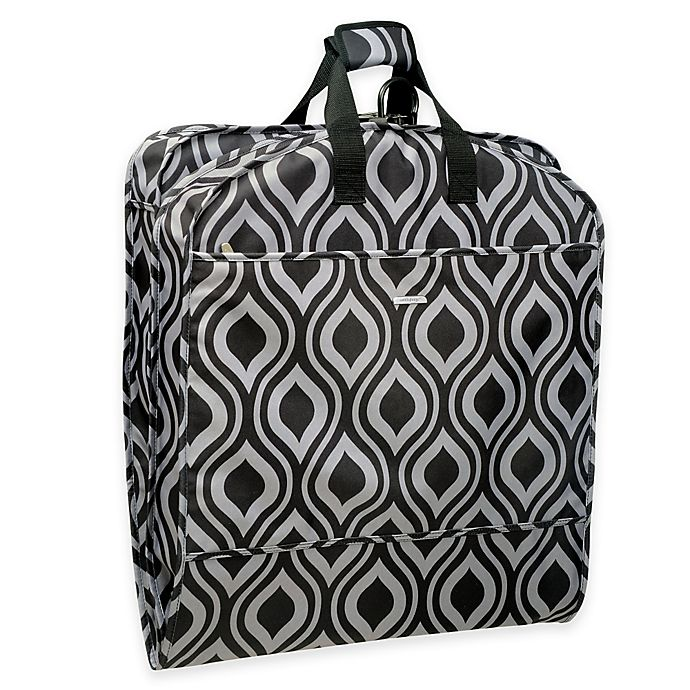 Alternate image 1 for WallyBags® 52-Inch Dress Length Fashion Garment Bag with Pockets in Black/Grey