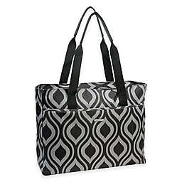 WallyBags® Tote Bag in Black/Grey