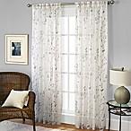 Willow Print Pinch Pleat 84-Inch Sheer Window Curtain Panel