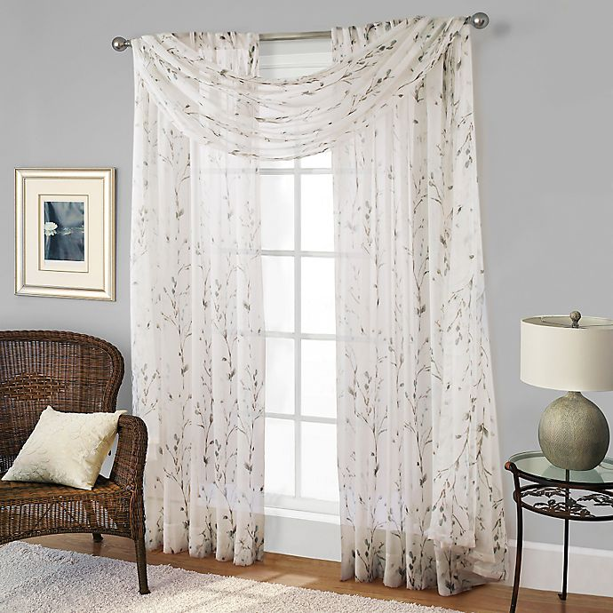 Alternate image 1 for Willow Print Window Scarf Valance
