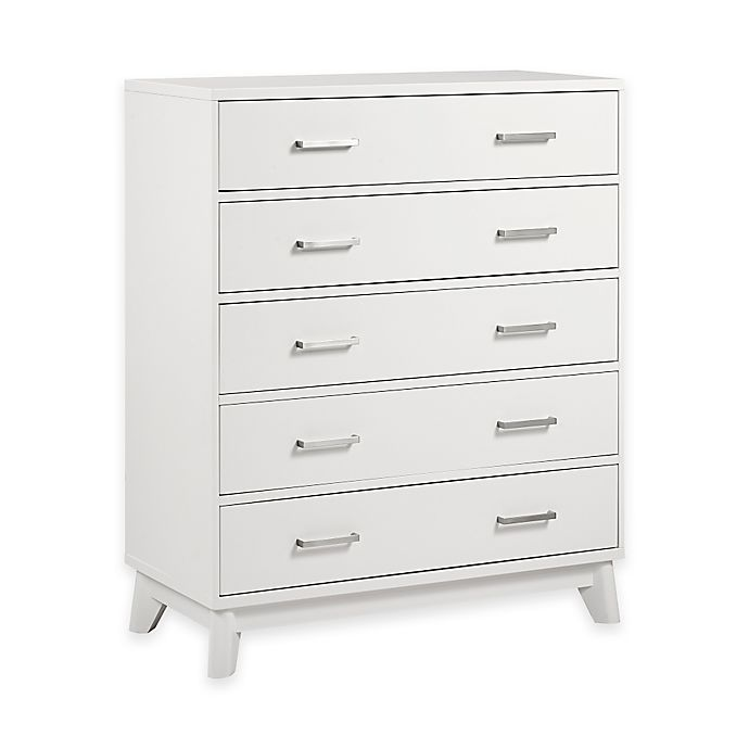 Alternate image 1 for Kingsley Wyndham 5-Drawer Chest in White