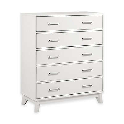 Kingsley Wyndham 5-Drawer Chest in White