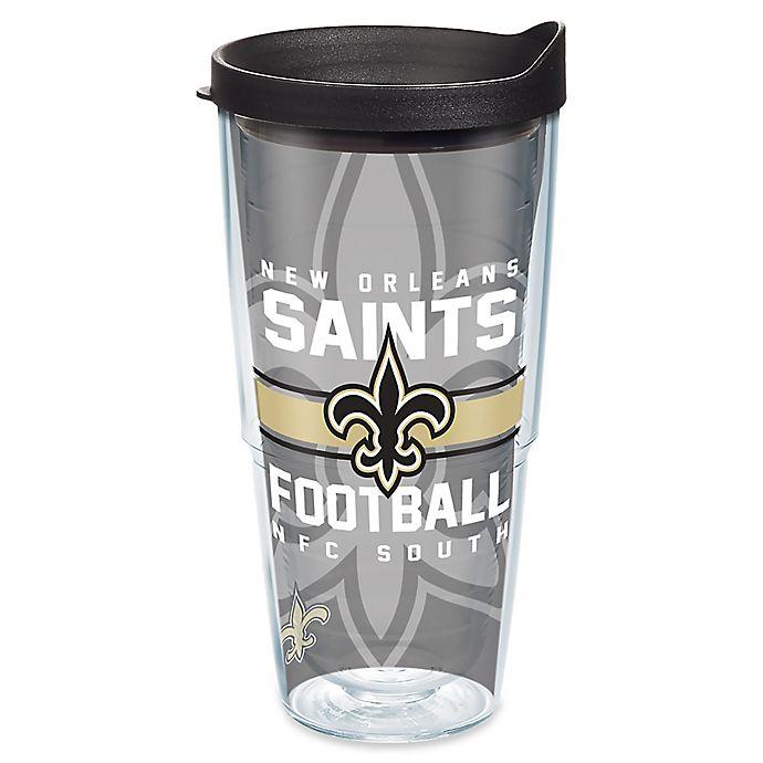 Alternate image 1 for Tervis® NFL New Orleans Saints Gridiron 24 oz. Wrap Tumbler with Lid