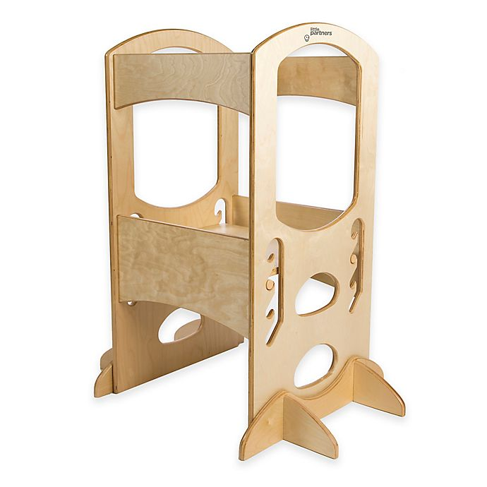 Alternate image 1 for Little Partners Original Learning Tower Step Stool in Natural