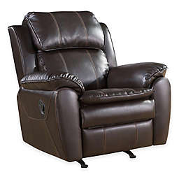 Abbyson Living® Tudor Nursery Rocker Recliner in Dark Brown
