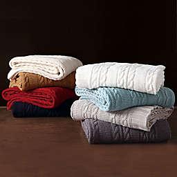 VCNY Abode Dublin Knit Throw Blanket