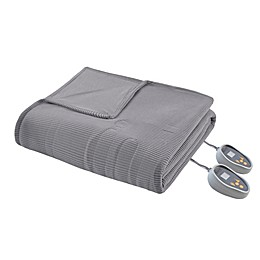 Beautyrest Ribbed Heated Microfleece Heated Blanket