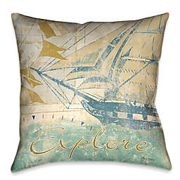 Laural Home® Mariner's Sentiment I Square Throw Pillow