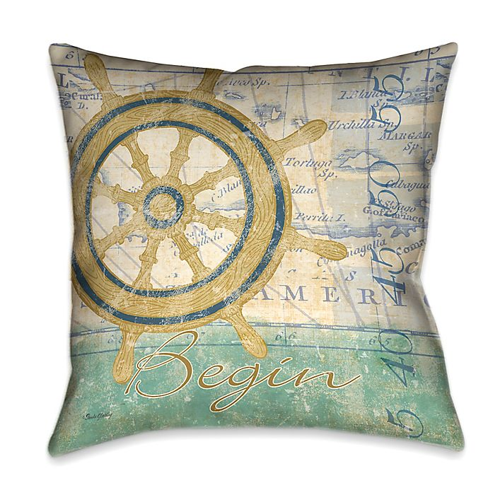 Alternate image 1 for Laural Home® Mariner's Sentiment II Square Throw Pillow