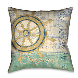 Laural Home® Mariner's Sentiment II Square Throw Pillow