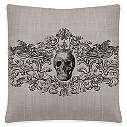 Heritage Lace® Gothic Skull Square Throw Pillow