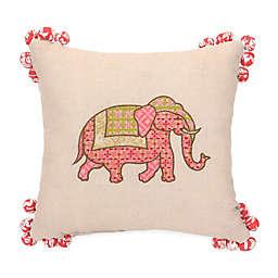 Jessica Simpson Amrita Medallion Elephant Square Throw Pillow in Coral