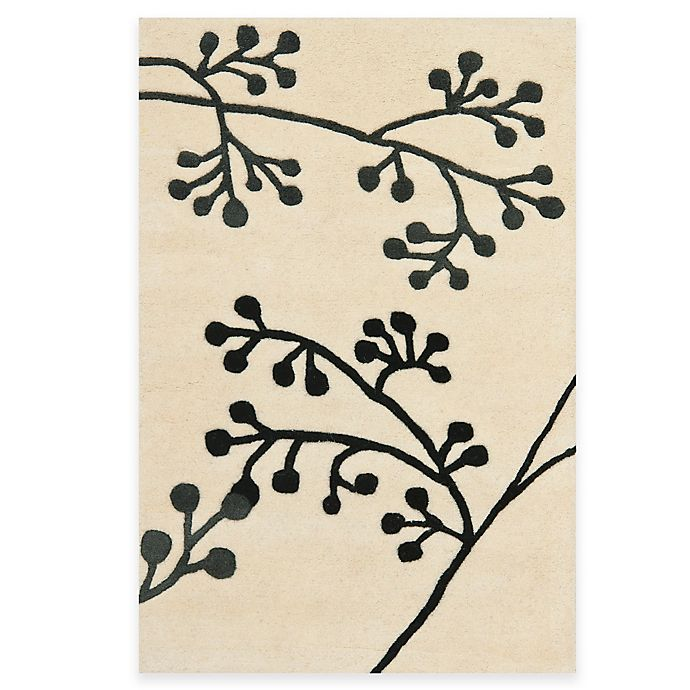 Alternate image 1 for Safavieh Soho Ivory and Grey Botanical Wool Rugs