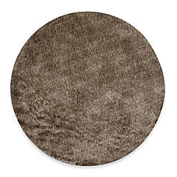 Safavieh Paris 5-Foot Round Shag Rug in Sable