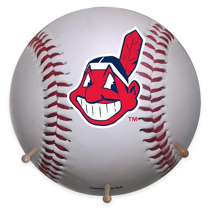 Alternate image 1 for MLB Cleveland Indians Team Logo Baseball Coat Rack