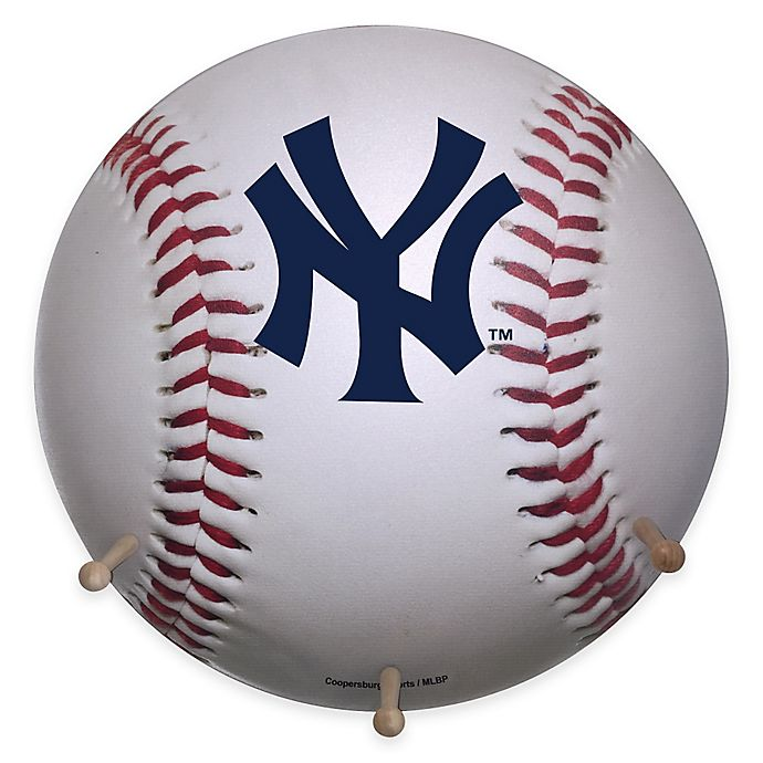 Alternate image 1 for MLB New York Yankees Team Logo Baseball Coat Rack