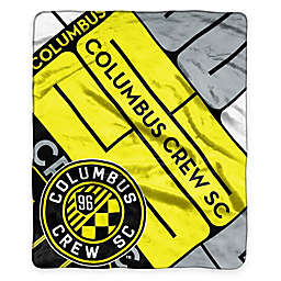 MLS Columbus Crew Super-Plush Raschel Throw Blanket