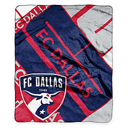 MLS FC Dallas Super-Plush Raschel Throw Blanket