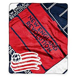 MLS New England Revolution Super-Plush Raschel Throw Blanket