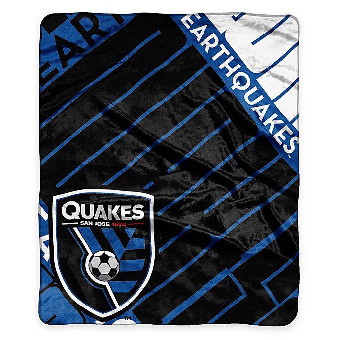 Alternate image 1 for MLS San Jose Earthquakes Super-Plush Raschel Throw Blanket